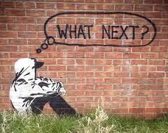 Graffiti by Banksy, London.